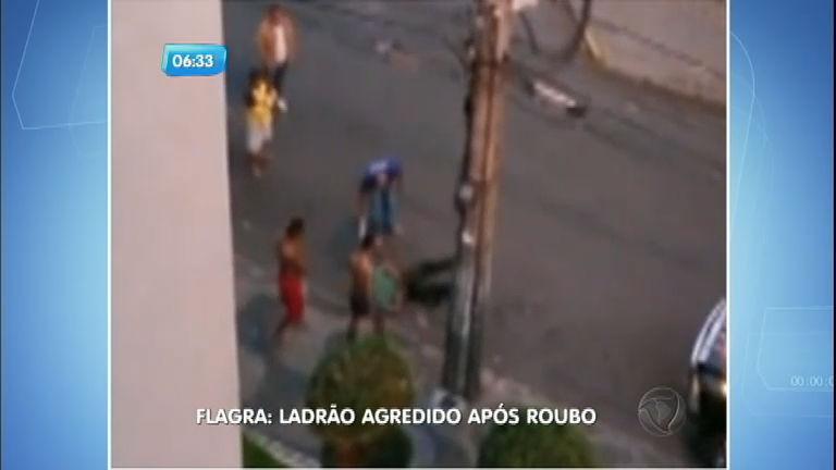 """Ladrão é rendido e agredido por """"justiceiros"""" após roubo em MG"""