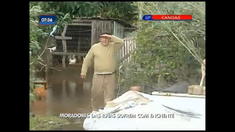 Moradores das ilhas sofrem com enchente