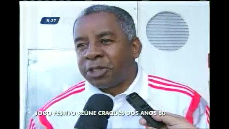 Jogo festivo reúne craques dos anos 80 de Atlético e Flamengo em BH