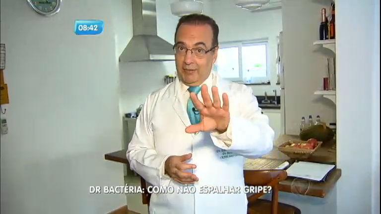 Dr. Bactéria: como evitar que a gripe se espalhe?