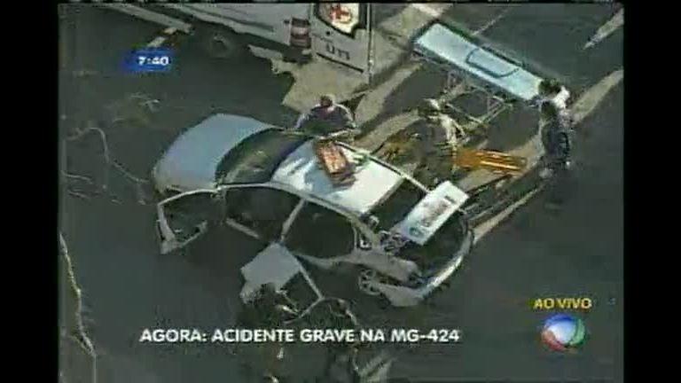 Acidente deixa um morto e vários feridos em Pedro Leopoldo (MG)