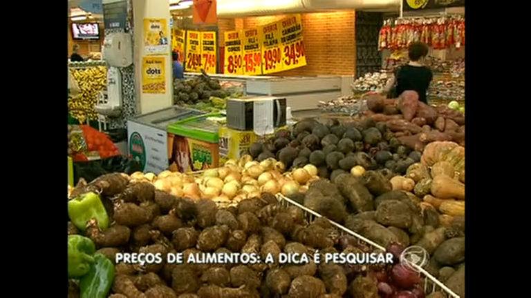 Pesquisa pode gerar economia na hora de comprar alimentos