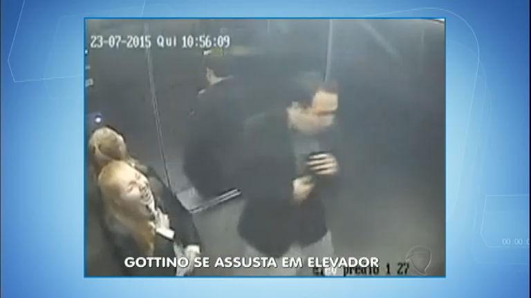 Pegadinha? Reinaldo Gottino leva baita susto ao entrar no elevador ...