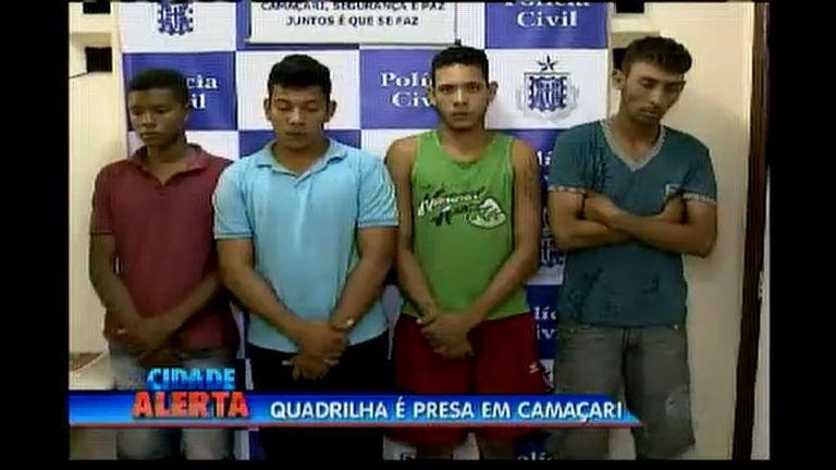 Quadrilha é presa em Camaçari - Bahia - R7 Cidade Alerta BA