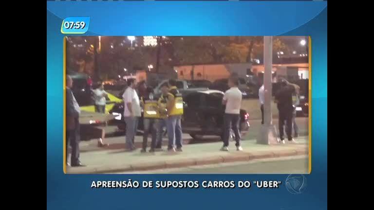Detro apreende oito carros do Uber em operação no Aeroporto Santos Dumont