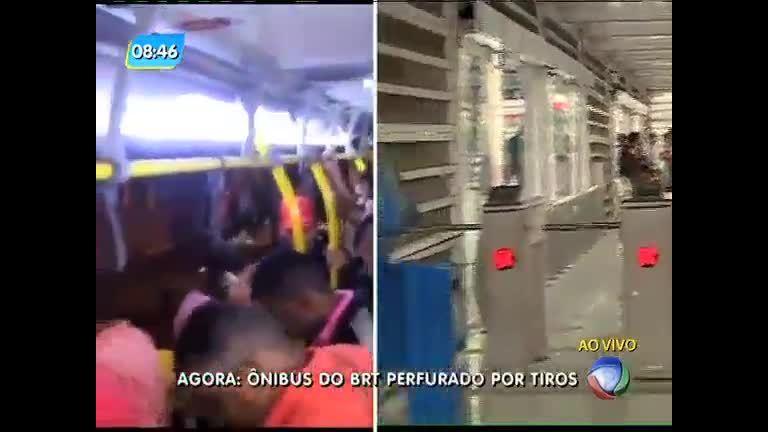 Duas pessoas ficam feridas em tiroteio que atingiu ônibus do BRT ...