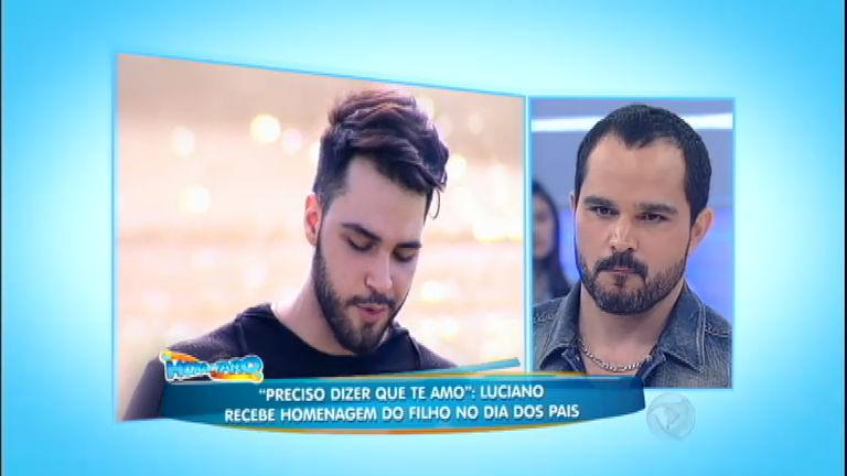 Luciano canta junto com o filho e não segura as lágrimas ao ...