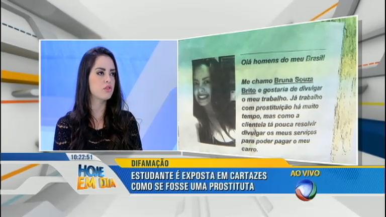 """Vítima de falso cartaz de prostituição fala sobre o caso: """"É inveja ..."""
