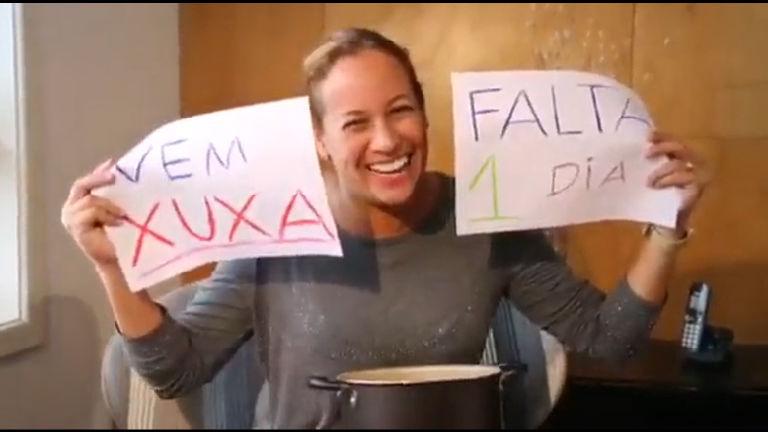 Renata Alves bate panela e dá recado: falta um dia para a estreia de Xuxa