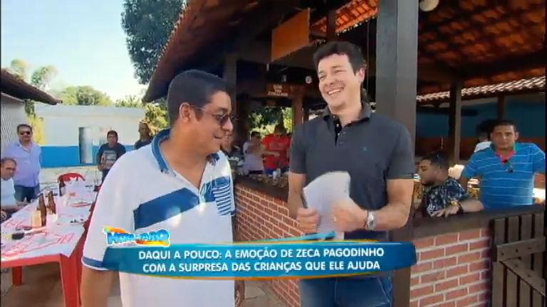Zeca Pagodinho abre as portas de sua casa e recebe Rodrigo Faro ...