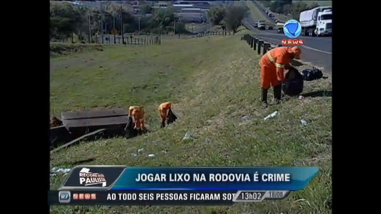 Jogar lixo em rodovias é crime e pode causar acidentes - Record ...