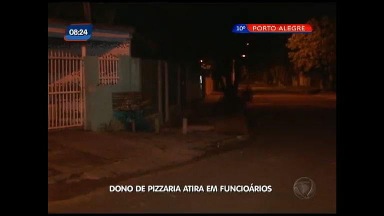 Dono de pizzaria atira em funcionários