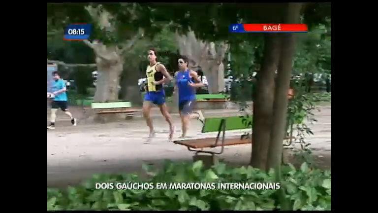 Dois gaúchos em maratonas internacionais