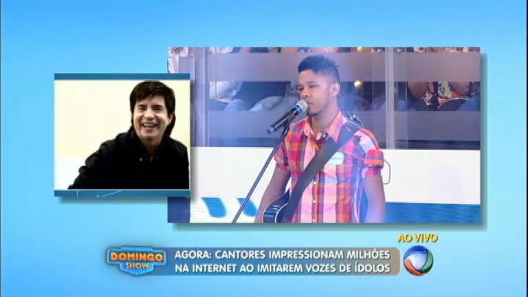 Cantores imitam vozes de sertanejos famosos no Domingo Show ...