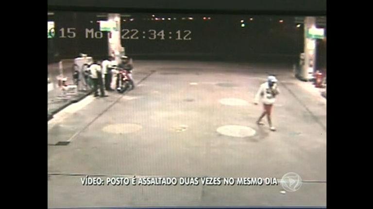 Posto de combustível é assaltado duas vezes no memso dia
