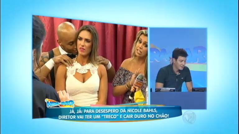 Nicole Bahls perde a paciência em pegadinha armada por Rodrigo ...