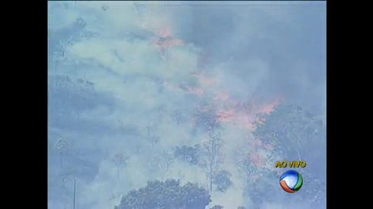 Incêndio atinge área verde em Santa Maria - Distrito Federal - R7 ...