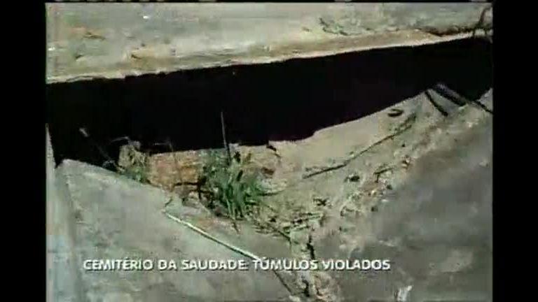 Cemitério da Saudade tem túmulos violados - Minas Gerais - R7 MG ...