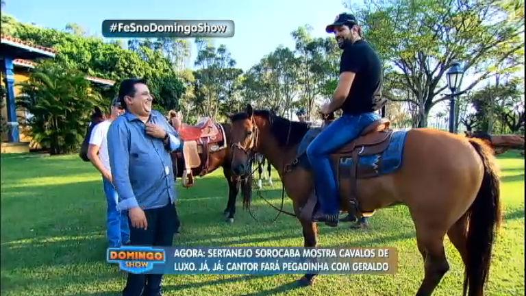 Geraldo Luís visita fazenda luxuosa do cantor Sorocaba ...