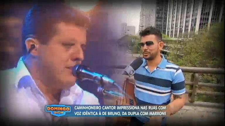 Caminhoneiro cantor impressiona pela voz idêntica à de Bruno, da ...