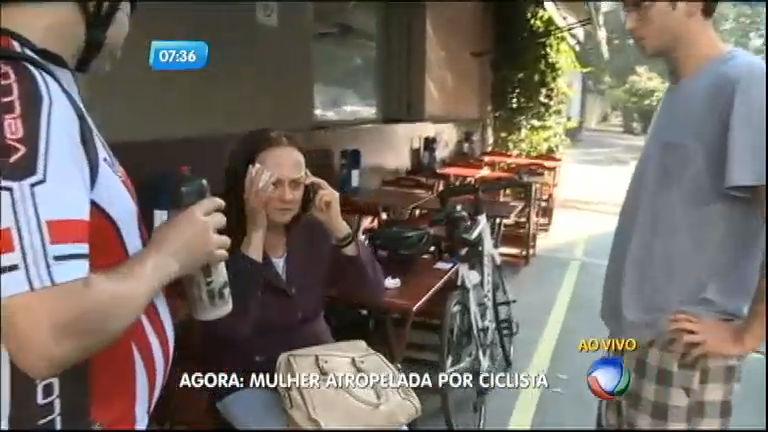 Ciclista atropela mulher na avenida Faria Lima em São Paulo ...