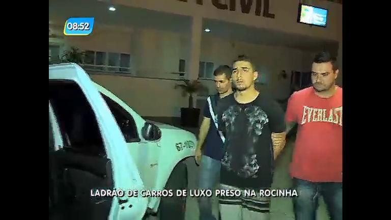 Suspeito de roubar carros de luxo na zona oeste é preso na Rocinha