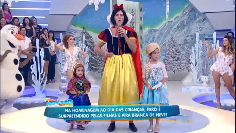 Para o Dia das Crianças, Faro é surpreendido pelas filhas e vira a ...