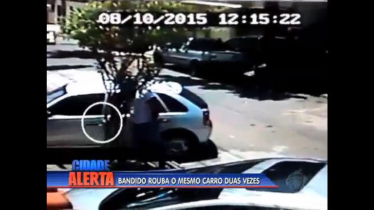 Morador tem o carro roubado duas vezes pelo mesmo criminoso
