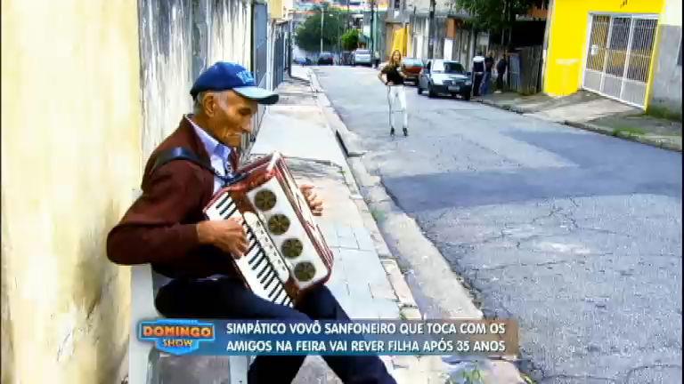 Emoção: 'Vovô Sanfoneiro' reencontra filha depois de 35 anos ...