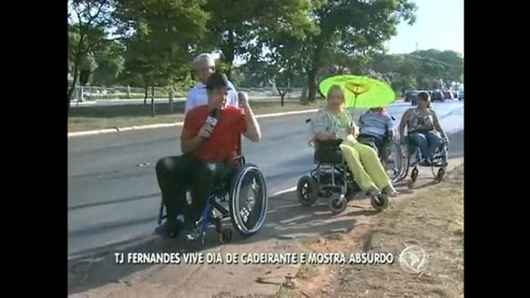 Conheça as dificuldades que cadeirantes enfrentam no DF