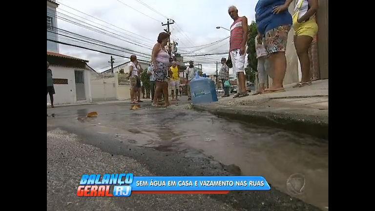 Moradores reclamam da falta de água em Oswaldo Cruz, na zona norte