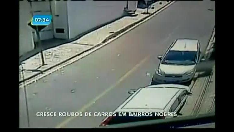 Cresce roubos de carros em bairros nobres