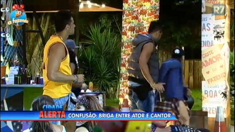 Festa é interrompida e barraco toma conta da Fazenda - Notícias ...
