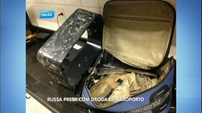 Russa é presa com dois quilos de cocaína no Aeroporto do Galeão ...