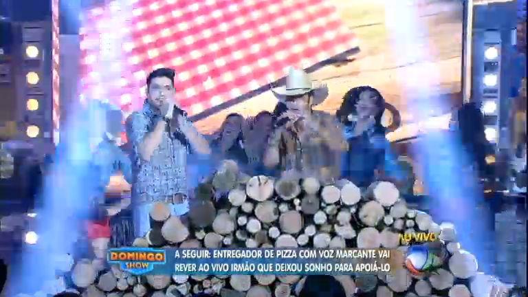 Dupla Bruno E Barretto Leva A Música Sertaneja Ao Palco Do Domingo Show