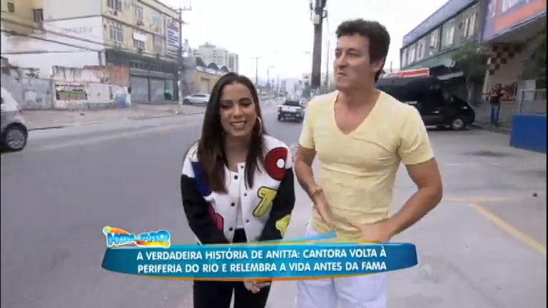 Rodrigo Faro apronta todas com Anitta no bairro onde ela cresceu ...