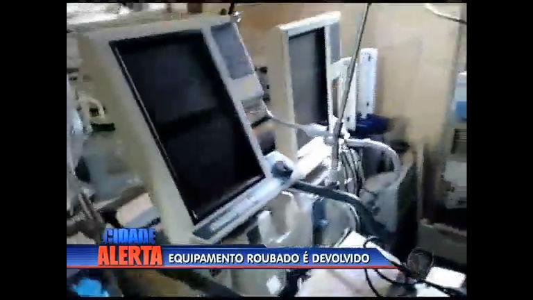 Equipamento hospitalar roubado começa a ser devolvido - Rio de ...