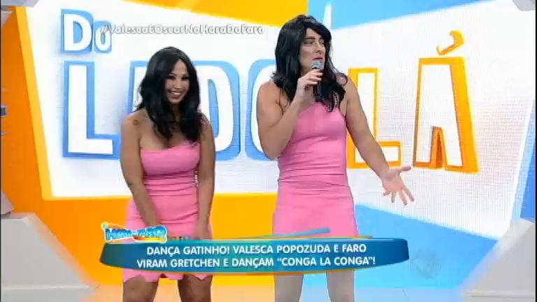 Dança Gatinho: Faro e Valesca viram Gretchen e dançam Conga La ...