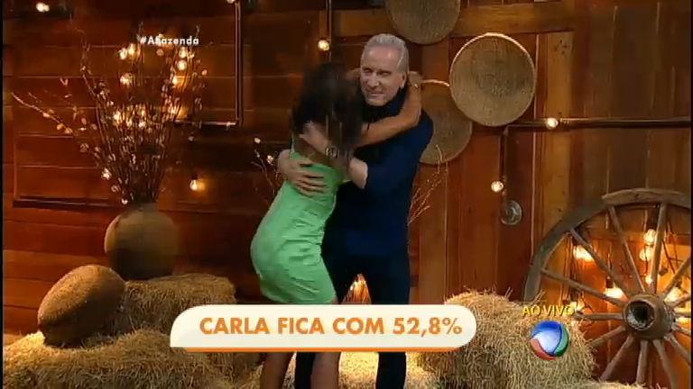 Com 52,8% dos votos, Carla Prata retorna de sua terceira Roça - A ...