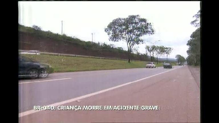 Menina morre em acidente na BR- 040, em Nova Lima (MG) - Minas ...