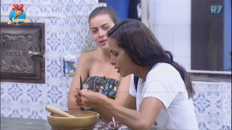 Rayanne e Carla Prata comentam falsidade dos peões na Fazenda ...