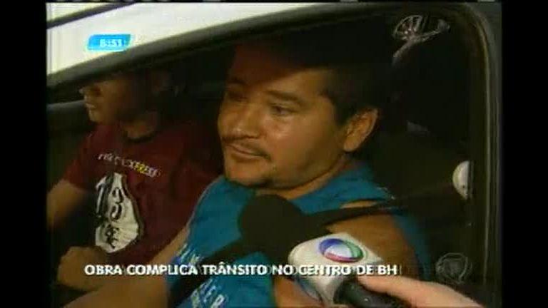 Obra complica trânsito na região central de BH - Minas Gerais - R7 ...