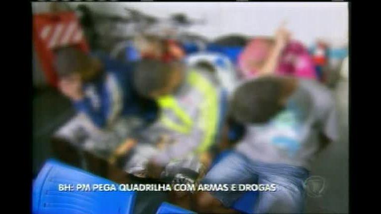 PM prende quadrilha com armas e drogas - Minas Gerais - R7 MG ...