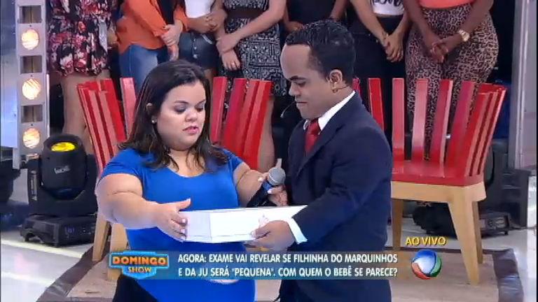 Marquinhos e Ju descobrem que filha será anã e recebem imagem 3D do rosto do bebê