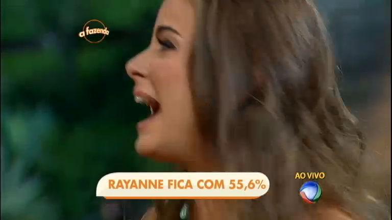 Com 55, 6% dos votos, Rayanne Morais continua na Fazenda - A ...