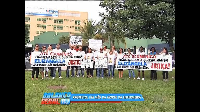 Caso Elizângela: familiares e parentes fazem protesto após um mês da morte da técnica de enfermagem