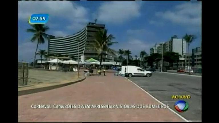 Carnaval: camarotes devem apresentar vistorias dos Bombeiros