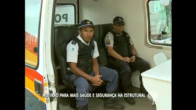 Cidade Estrutural ganha base móvel da Polícia Militar
