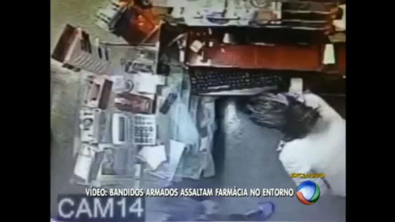 Trio assalta farmácia em cidade do Entorno do DF