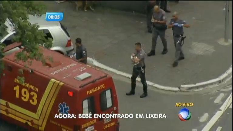 Criança encontrada em lixeira comove policiais e bombeiros em São Paulo